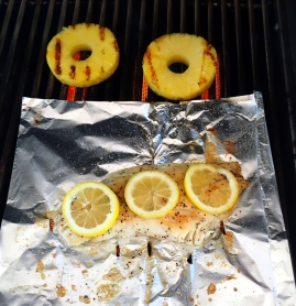 fresh snook with grilled pineapple